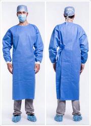 De Gediplomeerde Beschikbare Band SMS 45GSM van Ce op Norm versterkte Blauwe Chirurgische Toga