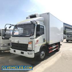 محرك Cummins 141HP Sinotruk 3 أطنان شاحنة برّاد 5 أطنان شاحنة مبردة