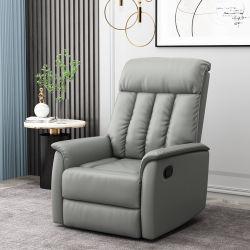 Muebles de hogar moderno y elegante sillón reclinable manual ajustable Top sofá de cuero