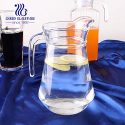إبريق زجاجي كلاسيكي مع مياه باردة وباردة سعة 1 لتر مع مقبض