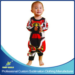 Custom Сублимация мотоцикл спортивные костюмы для детей