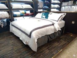 Cotone stabilito 100% del lenzuolo dell'assestamento dell'hotel di conteggio del filetto del lusso 200~400