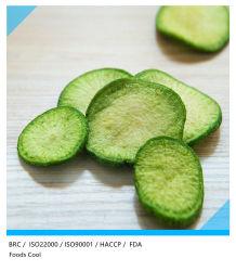 VF snack cibo sano secco croccante chips verdure Turnip verde Scaglie di ravanelli verdi