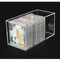 Высокое качество Crystal Clear прямоугольник акриловый лоток CD палитра организатор DVD шкаф для хранения в салоне с крышкой для корпуса шкаф