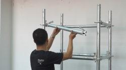 Fabrik-Aufbau-Q235 galvanisierte rostfreies Baugerüst-diagonale Klammer für Gebäude