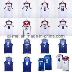 2021 Olympische spelen USA Dream Team Durant Booker Lillard Tatum Beal Blauw-witte basketbaljerseys
