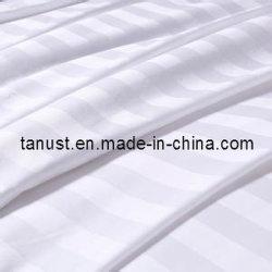 300cm 면에 의하여 빗질되는 줄무늬 고밀도 공단 침대 시트 직물