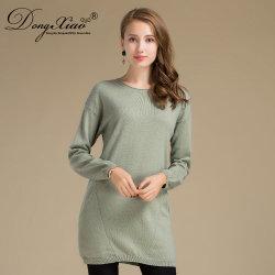 Pocketsの12gg Women Long Sleeve Wool Cashmere Pullover