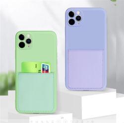 Faites glisser la lentille antichoc complet multifonction Silicone TPU souple de protection de la caméra Logement de carte accessoires pour téléphones mobiles étui pour téléphone mobile pour iPhone 11 PRO Max x cas