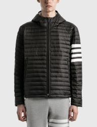 Winddicht kwaliteit Down Coat Split Button Side Stripe Quilted Jack