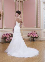 [أرغنزا] بيضاء زفافيّ ثياب زهرات [مرميد] [ودّينغ غون]