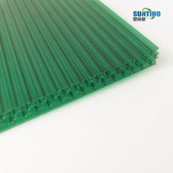 Résistant aux UV de 4 mm creux Twinwall Feuille de polycarbonate