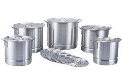 Panela a vapor de alumínio qt 20-52Panelas Define Panela Stock Pot