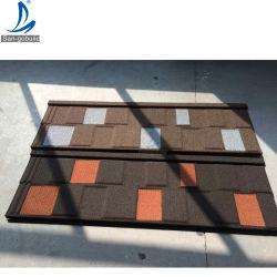 Африке горячая продажа миниатюры Крыши с покрытием из природного камня стального листа крыши строительных материалов в Гане