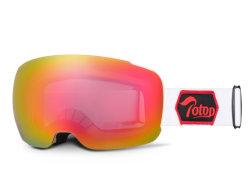 Sangle personnalisé UV400 double Lunettes de ski de neige magnétique Anti-Fog Skate lunettes