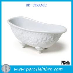 Модные керамические мини-ванной мыло блюдо