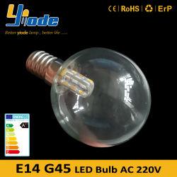 Малые Эдисон винт E14 светодиодных ламп G45 светодиодный светильник для дома через Интернет