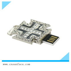 프로모션 선물 Sliver Cross Shape USB 플래시 드라이브 8GB 16GB u 디스크