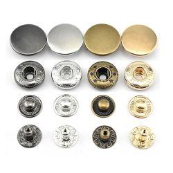 패션 버튼 맞춤형 로고 엠보싱 메탈 스냅 버튼