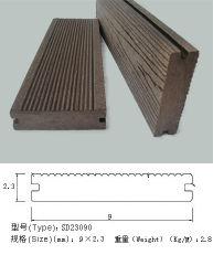 Um deck exterior, deck composto, pavimentos, bambu e Plástico