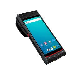 Macchina tenuta in mano Android PDA tenuto in mano astuto di posizione di PDA con la stampante dell'autoadesivo del contrassegno in stampante del biglietto di bus