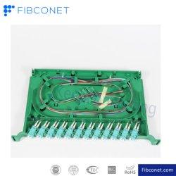 48 Core ODF FTTH Acier laminé à froid du panneau de raccordement à fibre optique du châssis de distribution