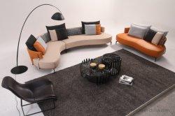 Sofá en forma de arco de la Sala de estar con reposabrazos