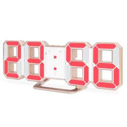 工場卸売 3D デジタル LED ウォールデスクテーブルアラーム時間 スヌーズ機能付き時計