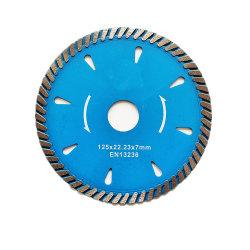125 Presse à chaud 6pouce Cn fournisseur diamant Turbo lame de scie circulaire pour disque de coupe à sec en carreaux de céramique