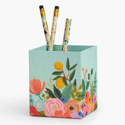 Handgemaakt gepersonaliseerd Design Print Textuurepapier Cardboard Pencil Holder voor Kantoor of thuis