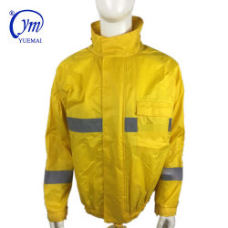 Vestiti riflettenti gialli fluorescenti di sicurezza stradale, sicurezza riflettente del tessuto impermeabile