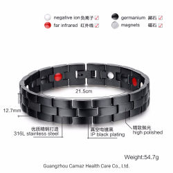 Commerce de gros pouvoir d'ions en acier inoxydable bracelet magnétique Bio sain de l'énergie