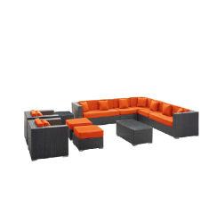 Современный дизайн холл плетеной раскинут удобный диван
