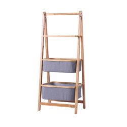 Casa de bambú de 3 niveles de almacenamiento Salon baño Cesta Bandeja para rack
