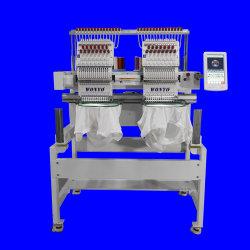 Tシャツの野球帽のための2台のヘッド産業Dahaoの刺繍機械9-12-15本の針