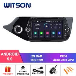 Processeurs quatre coeurs Witson Android 9.0 DVD de voiture GPS pour KIA CEED 2012 Lien miroir pour Android mobile+l'iPhone