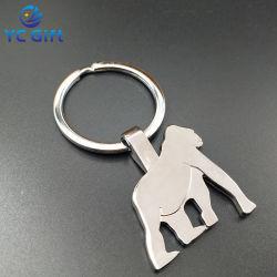 Fabricante de liga de zinco de alta qualidade personalizada 3D Laser Keychains Animal da actividade da empresa de publicidade Gravura Dom promocionais especiais Chaveiros