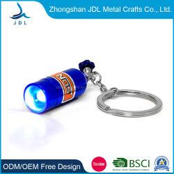 Groothandel Promotie Gift Custom Zinc Alloy 2d 3d Kleurrijk Logo Printing Popular Simple Light Sleutelhanger Led Abs Button Flashlight Key Chain Souvenir Gift (039)