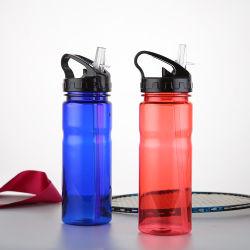 600ml BPA geben bewegliche Plastiksport-Wasser-Flasche mit dem gedruckten Firmenzeichen-Zoll frei