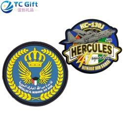 Força aérea de bandeira personalizada de fábrica da Polícia Militar táctico uniforme PVC Emblema de borracha grosso decoração acessórios de vestuário de alta qualidade com o logotipo Emblema de patches