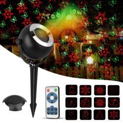 Lampada del proiettore del laser della stella della decorazione di festa di CC 12V 650nm 532nm Halloween di bassa tensione