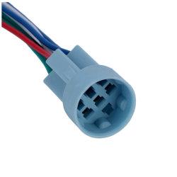 """16mm sur le fil de câblage du connecteur adaptateur de fiche femelle en queue de cochon pour 16mm 5/8"""" Interrupteur à bouton poussoir"""