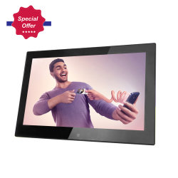 Music MP3 MP4 Photo Loop Video Motion sensor LED digitale fotolijst 13 Inch met IPS-Scherm