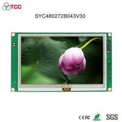 저항성 터치 스크린 모듈이 장착된 4.3인치 480X272 Lt76680 컨트롤러 직렬 인터페이스 TFT LCD