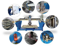 (XZQQ625A) de Machine van de Zaag van de Tegel van het Hulpmiddel van de Gravure van de Steen voor het Marmer van het Graniet
