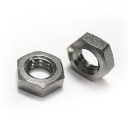 DIN 439 Gr12 с шестигранной головкой тонкий титановые гайки для использования химических веществ