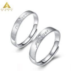 Kundenspezifischer des Gold18k silberne Hochzeits-Band-Ring Schmucksache-Großverkauf-Schmucksache-Finger-Ring-925 für Eingriff