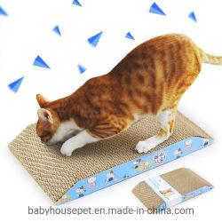 Commerce de gros carton ondulé Ladder-Shaped Pad Cat de rayer les accessoires pour animaux de compagnie de jouets