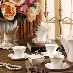 خزفيّ شاي مجموعة \ أبيض \ عظم خزي [تور] \ هبة \ شاي مجموعة \ [تبوت] \ فنجان