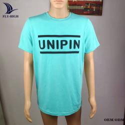 背部首の結合テープとのあなた自身のロゴOEMサービス工場卸売の昇華Tシャツ95%Cotton 5%Spandexをカスタマイズした